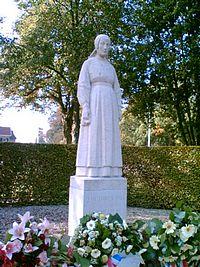 Herdenkingsbeeld in Putten, het 'Vrouwtje van Putten'