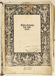 Biblia dudesch uit 1522 (Afb: SAB)