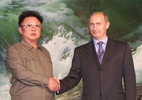 Vladimir Poetin brengt in 2000 een bezoek aan Noord-Korea