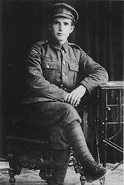 Ben Gurion in het uniform van het joodse legioen (1918)
