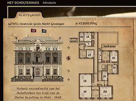 Plattegrond van het Scholtenhuis - Afb: Scholtenhuis.nl