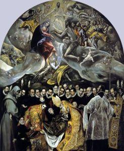 El entierro del Conde de Orgaz (De begrafenis van graaf Orgaz) uit 1586