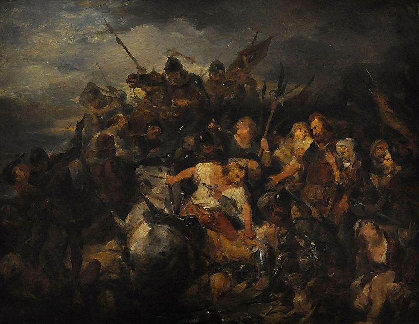 De slag der Gulden Sporen - Nicaise De Keyser, 1836 (Foto: CC / Paul Hermans)