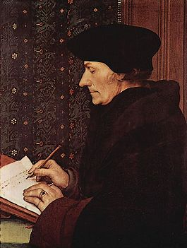 Desiderius Erasmus - Portret van Hans Holbein de Jonge