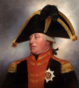 George III, de toenmalige koning van Groot-Brittannië