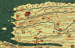 Forum Hadriani op de Peutinger Kaart