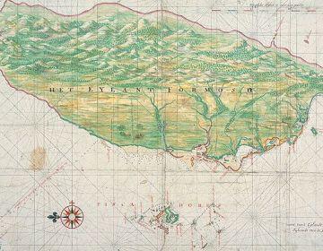 Nederlands Formosa op een kaart van Johannes Vingboons, ca.1640 (Nationaal Archief)