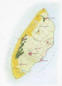 Kaart van Texel (Rolf Weijburg)