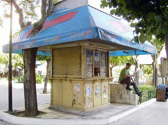 Griekse straatkiosk