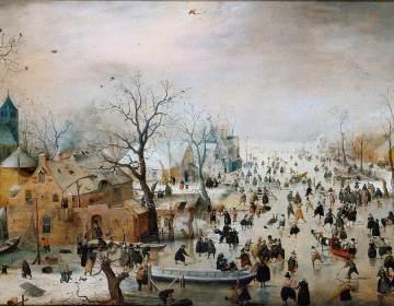 Winterlandschap met schaatsers – Hendrick Avercamp ca. 1608 | Rijksmuseum