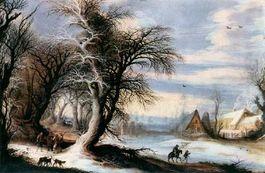Winterlandschap van Gijsbrecht Leytens