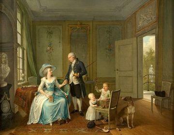 Gezin van Arent Anthoni Roukens - Willem Joseph Laquy, 1786 - Collectie Museum Het Valkhof