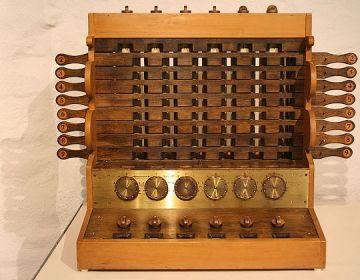 Reconstructie van de rekenmachine van Wilhelm Schickard (cc - Herbert Klaeren)