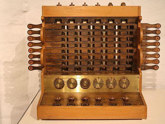 Reconstructie van de rekenmachine van Wilhelm Schickard