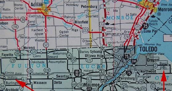 Beatosu en Goblu op een Amerikaanse kaart – Afb: michigan.gov