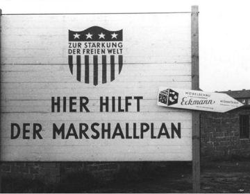Affiche voor het Marshallplan in Recklinghausen – Foto: CC