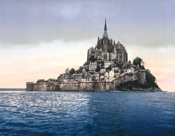 Mont-Saint-Michel in 1900 (photochrom)