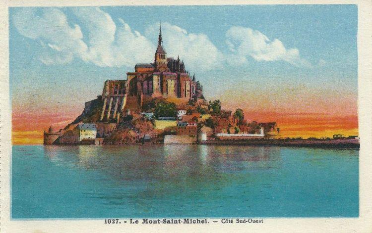 Mont-Saint-Michel op een ansichtkaart uit circa 1930