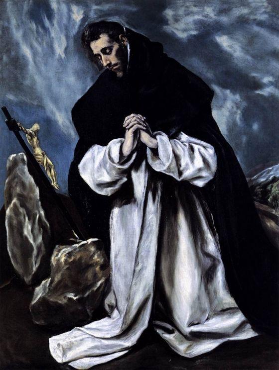 Sint Dominicus in gebed – El Greco