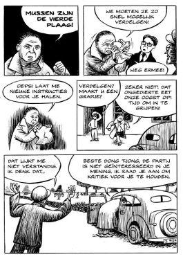 Pagina uit Mao's Mussen – Afb: Dirk-Jan Hoek – Bezige Bij