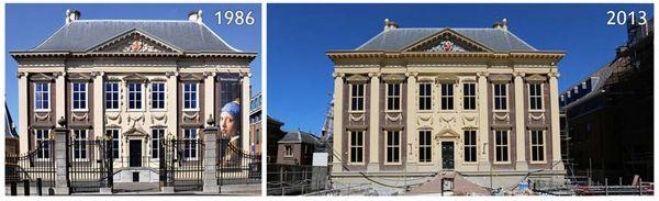 Mauritshuis in 1986 en 2013