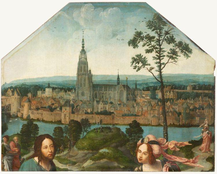 Christus en de Samaritaanse vrouw bij de stad Breda - ca. 1518 - Breda's Museum
