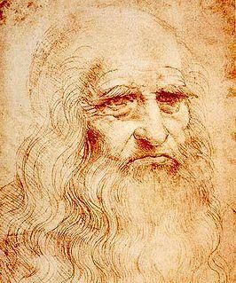 Leonardo da Vinci, zelfportret (detail)