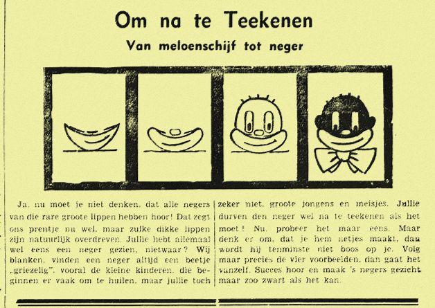 Van meloenschijf tot neger - Bataviaasch nieuwsblad, 1935