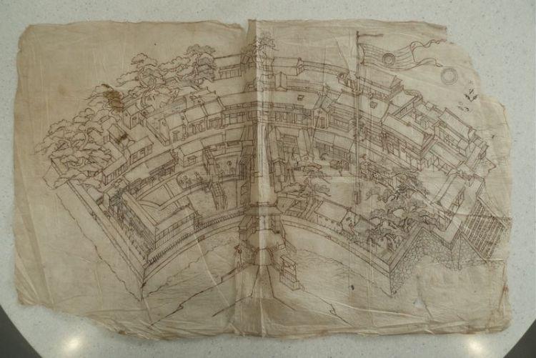 Tekening van Deshima - Foto: Rijksmuseum Amsterdam
