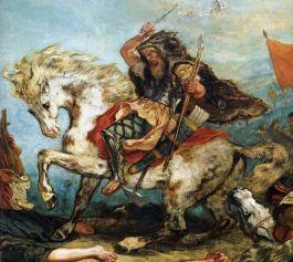 Attila de Hun op een werk van Eugene Delacroix