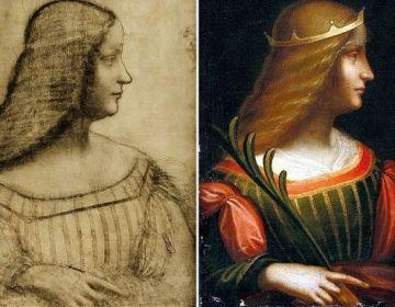De tekening en het schilderij dat door Leonardo da Vinci zou zijn gemaakt