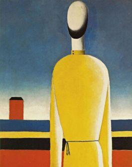 Torso in geel shirt, olieverf op doek, ca. 1932 - Collectie Russian State Museum