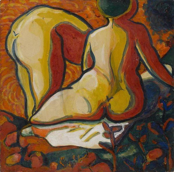 Kazimir Malevich, Baadsters op de rug gezien, 1908-1909. Collectie Stedelijk Museum Khardzhiev-Chaga.
