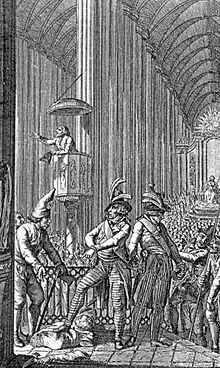"""De kathedraal van Straatsburg werd omgevormd tot een """"tempel van de rede"""". Hierbij werden honderden beelden vernield."""
