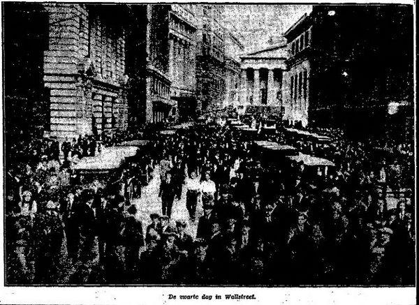 Zwarte donderdag op Wall Street