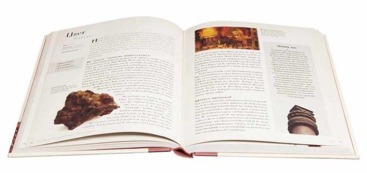 Pagina uit '50 mineralen die de geschiedenis veranderd hebben' - Afb: Librero