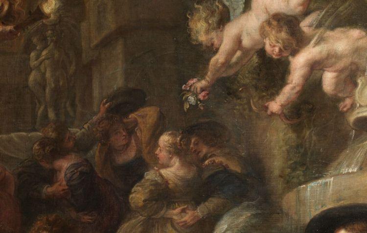 De liefdestuin – Peter Paul Rubens, ca. 1633 – detail (Madrid, Museo Nacional del Prado)
