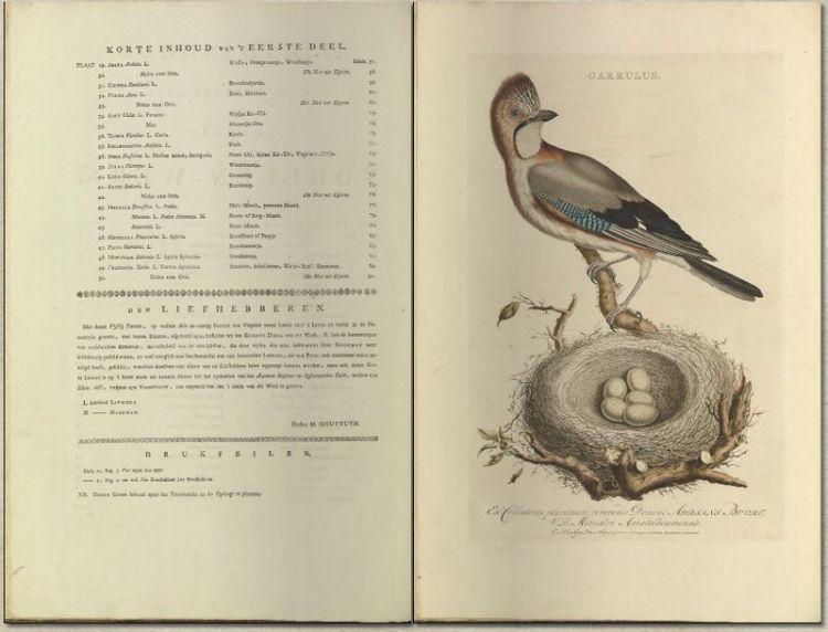 Nederlandsche vogelen, 1770-1829
