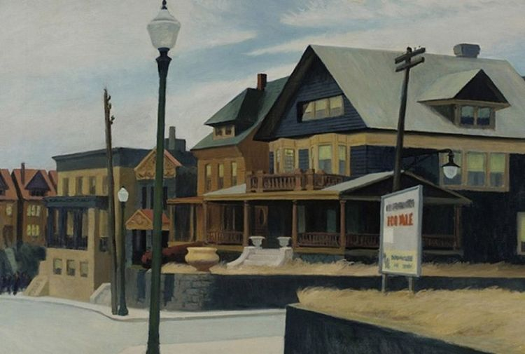 East wind over Weehawken - Edward Hopper, 1934