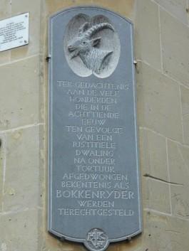 Bokkerijders plaquette in Valkenburg - Foto: CC