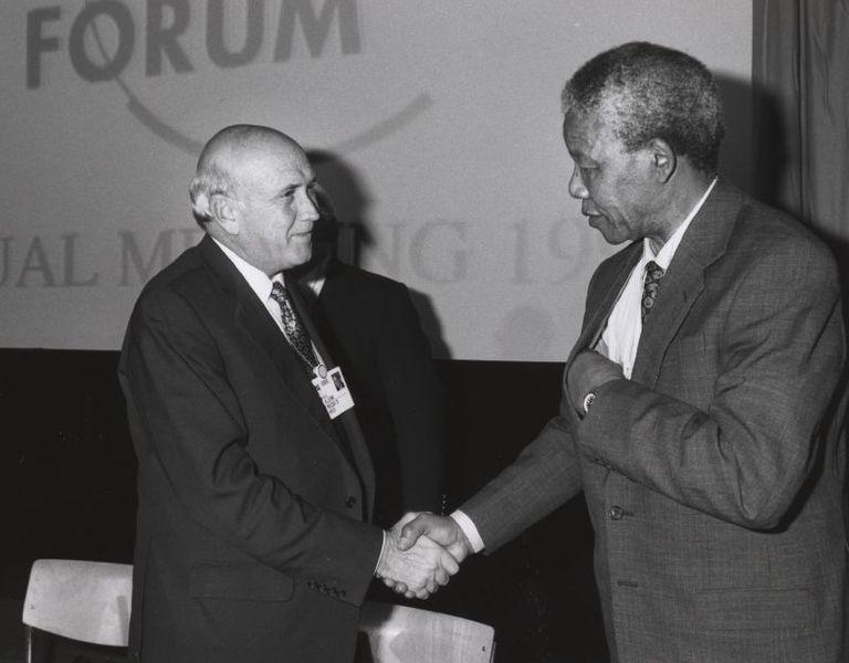 Frederik de Klerk en Nelson Mandela, 1992