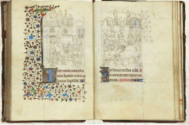 Pagina uit het manuscript van de Gebroeders van Limburg - Afb: Millon Brussel