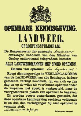 Landweer Oproepingstelegram