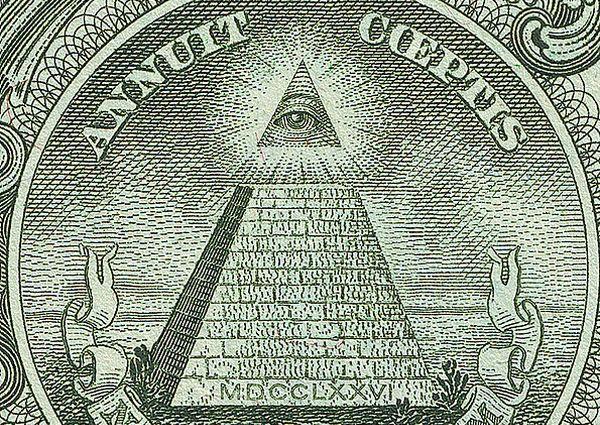 Alziend oog op het dollarbiljet