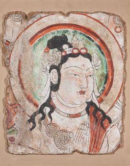 Bodhisattva - Turfan, Xinjiang, Bezeklik, 11de eeuw (State Hermitage Museum, St Petersburg)