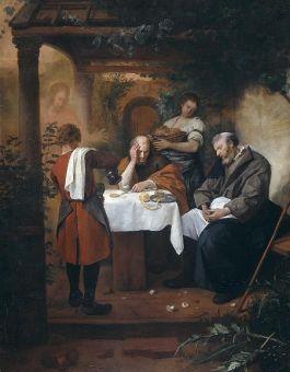 Jan Havicksz. Steen, Emmaüsgangers, ca. 1666, olieverf op doek, Rijksmuseum, Amsterdam