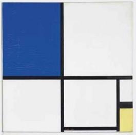 Mondriaan - Compositie no. 2 met blauw en geel (Christie's)