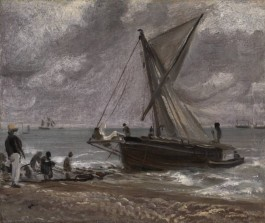 Beaching A Boat, Brighton - John Constable