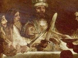 De samenzwering van de Bataven onder Claudius Civilis - Rembrandt van Rijn (detail)