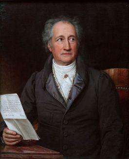 Johann Wolfgang von Goethe  in 1828, door Joseph Karl Stieler